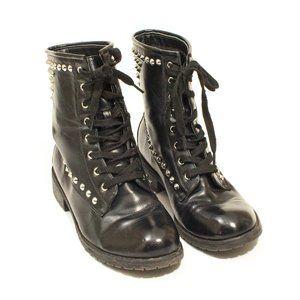 EUC Charlotte Russe Studded Black Combat Boots